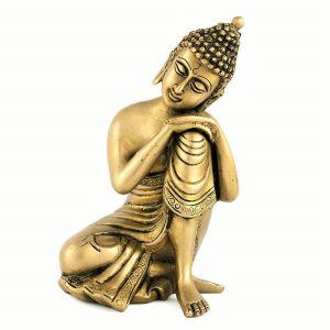 Nagaloka Art Golden Thinking Buddha Statue