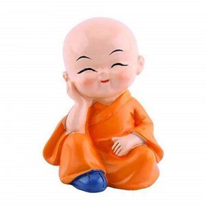 4 Pcs Cute Kongfu Monk for Car Interior Home Decor