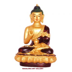 Brown Buddha Decorative Showpiece