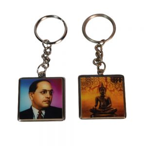 Ambedkar & Buddha both side Printed Key-Chain