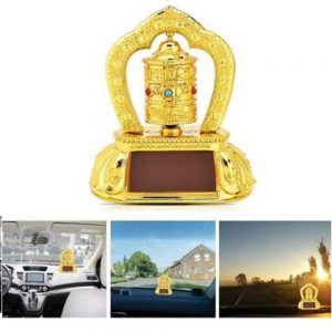 Feng Shui Revolving Solar Bells for Car Dashboard