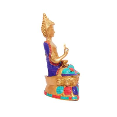 Buddha Statue-Turquoise work with fine quality