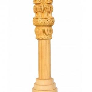 Wooden Craft Ashoka Stambh