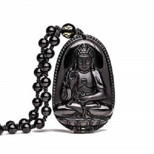 Crystal Buddha Face Locket