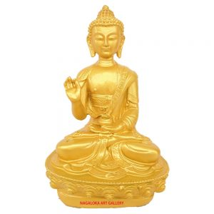 Blessing Golden Buddha Showpiece -21cm