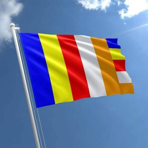 Panchsheel Flag Multi Colour (Pack of 3 Flags)